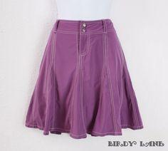Athleta Purple Whatever Skirt Skort Built In Shorts Athletic Fitness #WomensFitness #Athleta #FullSkirt