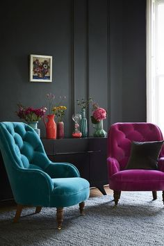 Gorgeous Jewel Tone easy chairs