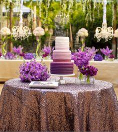 Purple #wedding #ideas. To see more: http://www.modwedding.com/2013/08/05/the-haiku-mill-wedding-ideas #cakes