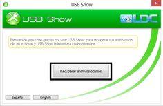 Usb Show para recuperar información oculta en la Memoria