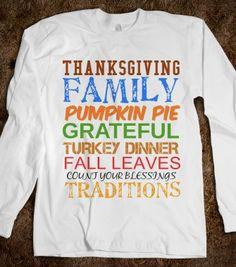 THANKSGIVING SHIRT - glamfoxx.com - Skreened T-shirts, Organic Shirts, Hoodies, Kids Tees, Baby One-Pieces and Tote Bags