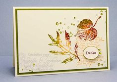 Autumn Card with French Foliage Posted on November 4, 2011 by Jeanette