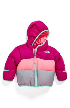 The North Face 'Moondoggy' Reversible Down Jacket (Baby Girls) available at #Nordstrom