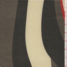 Chocolate Brown/Tan Stripe Charmeuse