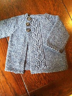 Ravelry: Leaf Love Baby Sweater pattern by Taiga Hilliard Designs Baby Sweater Patterns, Cardigan Pattern, Knitting Patterns, Knitting Ideas, Knitting Projects, Knitting Yarn, Baby Knitting, Crochet Baby, Knit Crochet