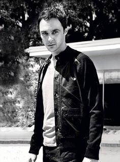 Jim Parsons. Sheldon. Big Bang Theory.   Who would have thought he look baddasss?