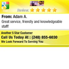 Great service, friendly and knowledgeable staff!