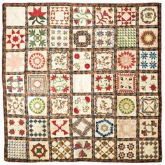 "Bonhams : A pieced and appliqued cotton presentation ""Album"" quilt Luzerne County, Pennsylvania, dated 1846"