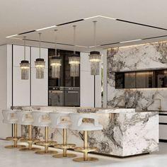 Luxury Kitchen Design, Luxury Kitchens, Modern House Design, Home Room Design, Bathroom Interior Design, Kitchen Interior, Luxury Home Decor, Luxury Homes, Luxury Dining Tables