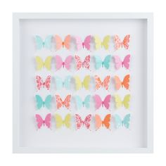 40 x 40cm Framed Rainbow Butterflies - Almond Tree Designs - Almond Tree Designs