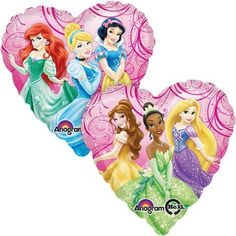 Princess Heart Shaped Mylar Balloon, 18?? | 1 ct