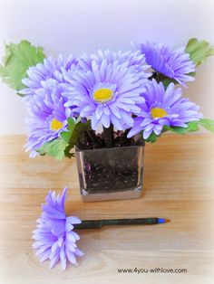 Holder for flower pens...use coffee beans for scent?