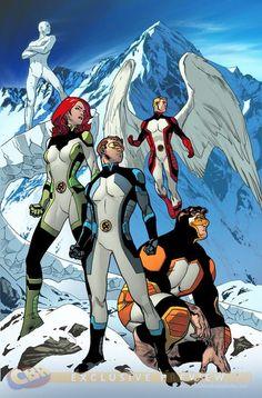 ORIGINAL TEAM. ICEMAN-JEAN GREY - ANGEL - CYCLOPS-BEST - X MEN