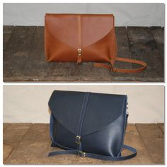 Leather Crossbody // Shoulder bag by BuboHandmade on Etsy