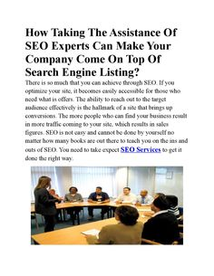 SEO Services Singapore are the perfect solutions to incur more benefits out of your websites. They make use of the time tested scientific calculations and combinations to bring out effective results.