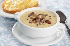 Грибной суп с плавленным сыром и картофелем.