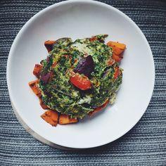 recette healthy food - recette pour un petit déjeuner healthy - omelette au chou kale