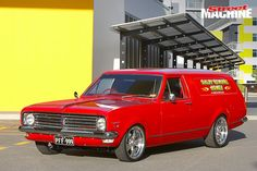 Rob Smiley created the HK Holden never made by combining a ute, van and two wagons to create this custom panel van Australian Muscle Cars, Aussie Muscle Cars, Big Girl Toys, Girls Toys, Holden Kingswood, Holden Australia, Custom Muscle Cars, Custom Vans, Automotive Art
