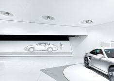Image 3 of 18 from gallery of Porsche Museum / Delugan Meissl, photos by Michael Schnell. Stuttgart Germany, Exhibition Display, Porsche Design, Interior Photo, Design Museum, Architecture, Gallery, Dojo, Photos