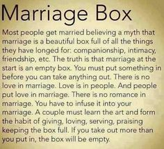 Box of marriage