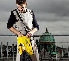 Flug zeug SLIMBAG - made from disposed life vests Bag Making, Vests, Life, Design