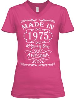 Made in 1975 - cant wait to get this shirt, what a fantastic idea