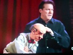 Jeff Dunham Jeff Foxworthy Larry the cable guy Bill Engvall Blue callar guys meets dunham in a not so friendly way. Funny As Hell, Wtf Funny, Hilarious, Jeffrey Dunham, Jeff Dunham Puppets, Jeff Foxworthy, The Cable Guy, Funny Comedians