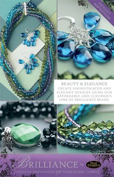 Create sophisticated and elegant designs using our affordable and luxurious line of brilliance beads.