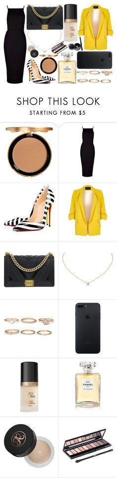 """316."" by plaraa on Polyvore featuring moda, Too Faced Cosmetics, Boohoo, Christian Louboutin, River Island, Chanel, Forever 21, Anastasia Beverly Hills y L'Oréal Paris"