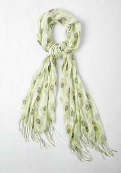All Eyes on Me Scarf in Lime From the Plus Size Fashion Community at www.VintageandCurvy.com