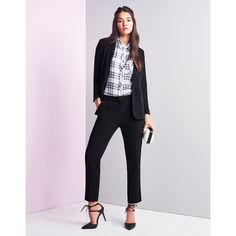 Unique 21 Tailored Mid Rise Cigarette Trousers ($40) ❤ liked on Polyvore featuring pants, cigarette trousers, mid rise pants, lipsy, tailored pants and tailored trousers