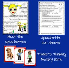 Printable Speech Therapy Games