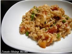 Tomato-shrimp risotto