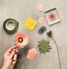 Make some amazing paper flowers with the Build a Bouquet kit.