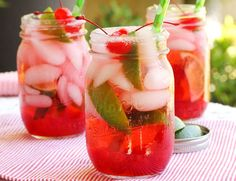 Cherry Shirley Temple with Lime Recipe - RecipeChart.com