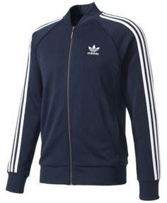adidas Men's Originals Superstar Track Jacket - Blue S