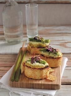 Asparagus, mushroom and mascarpone mini tartlets