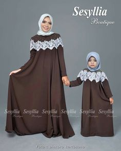 and baby hijab (notitle) Mommy Daughter Dresses, Baby Girl Dresses, Little Dresses, Simple Long Dress, Simple Gowns, Abaya Fashion, Muslim Fashion, Fashion Dresses, Simple Gown Design