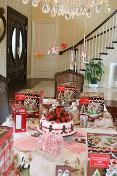 gingerbread party...I love this idea!