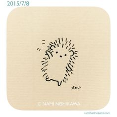 "814 Likes, 24 Comments - なみはりねずみ (@namiharinezumi) on Instagram: ""553 #illustration #hedgehog #イラスト #ハリネズミ #illustagram"""