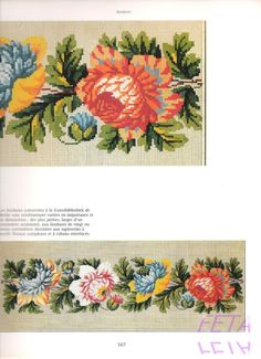 View album on Yandex. Embroidery Patterns Free, Rose Embroidery, Vintage Embroidery, Cross Stitch Embroidery, Cross Stitch Borders, Cross Stitch Flowers, Cross Stitching, Cross Stitch Patterns, Needlepoint Kits