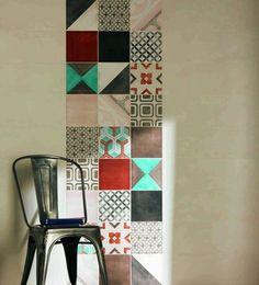 Carrelage salle de bains : osez le carrelage à motifs - CôtéMaison.fr