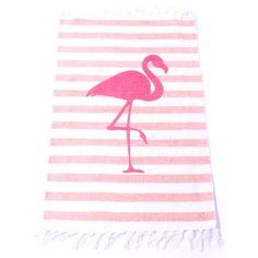 19,90EUR Teppich gestreift rosa mit Flamingo