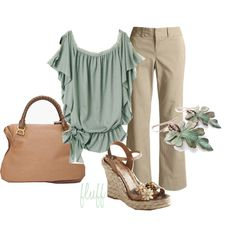 soft green, created by fluffof5 on Polyvore