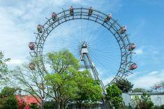 Wiener-Riesenrad-Außenansicht Wiener Prater, Rolling Stones, Ferris Wheel, Fair Grounds, Travel, Romantic Food, Viajes, The Rolling Stones, Destinations
