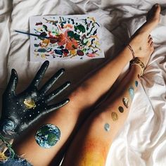 Body Painting aesthetic - This concepts was distribute at by Body Painting aesthetic Down Back Painting, Painting & Drawing, Drawing Artist, Artist Painting, Arm Tattoo, Mundo Hippie, Tatto Design, Art Hoe, Artsy Fartsy