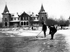 Jégvágás a Balatonon - Keszthely, 1905. Bavaria, Old Pictures, Historical Photos, Hungary, Buildings, Landscapes, Louvre, 1, History