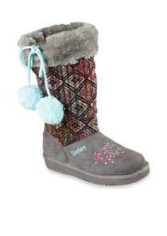 Skechers Brown Glamslam Boots - Girl Youth Sizes