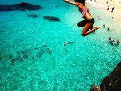 Waimea Bay, North Shore Oahu. Jump Rock...the only thing I wish I had done before we left...