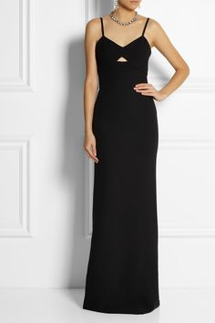 VICTORIA BECKHAM Cutout silk and wool-blend gown